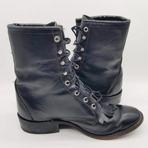 Laredo Black Kiltie Roper Boots